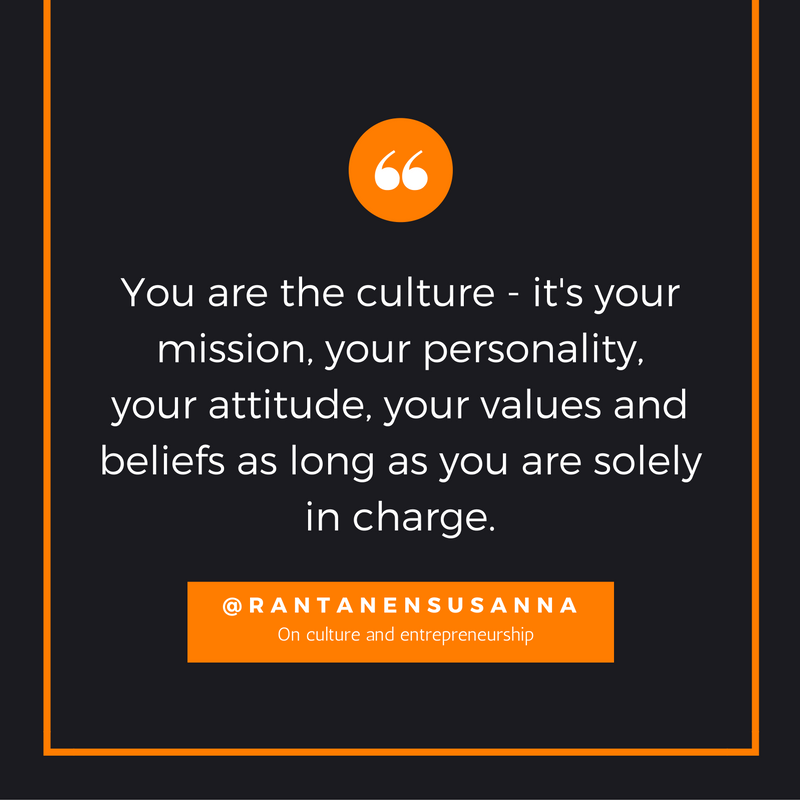 @rantanensusanna quote on culture and entrepreneurship