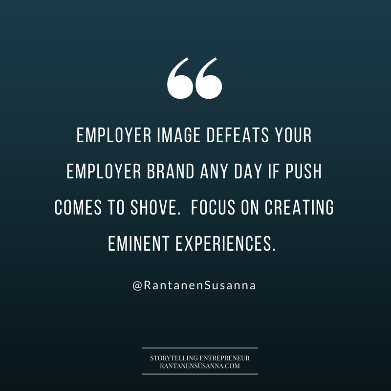 What's the difference between an employer brand and an employer image?